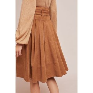 Anthropologie Skirts - Anthropologie Faux Suede A Line Skirt Akeni + Kin